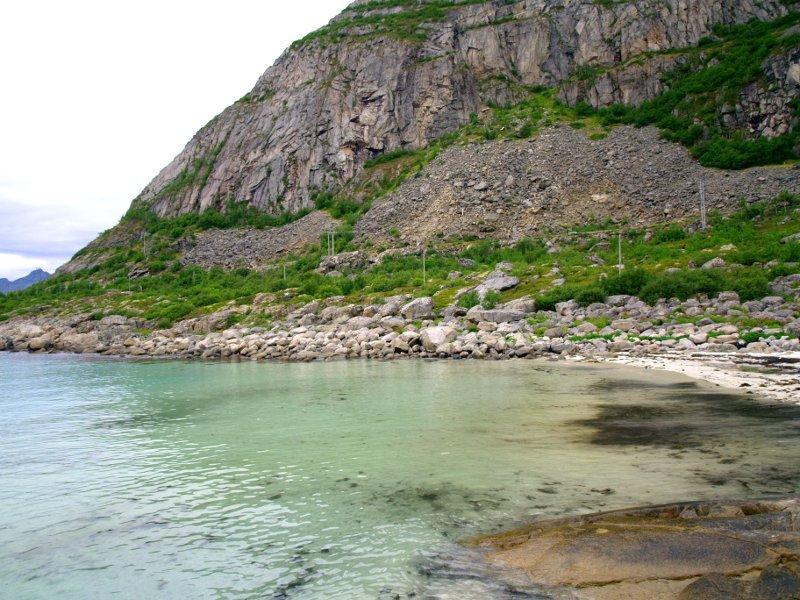 Spiaggia prima di Henningsvaer
