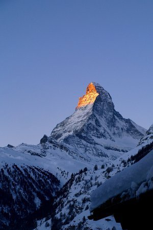 Zermatt meteo alba sul cervino