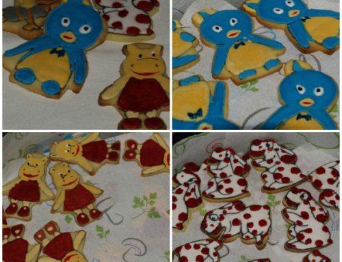 Biscotti decorati: Pimpa, Zonzoli e Ape Maia