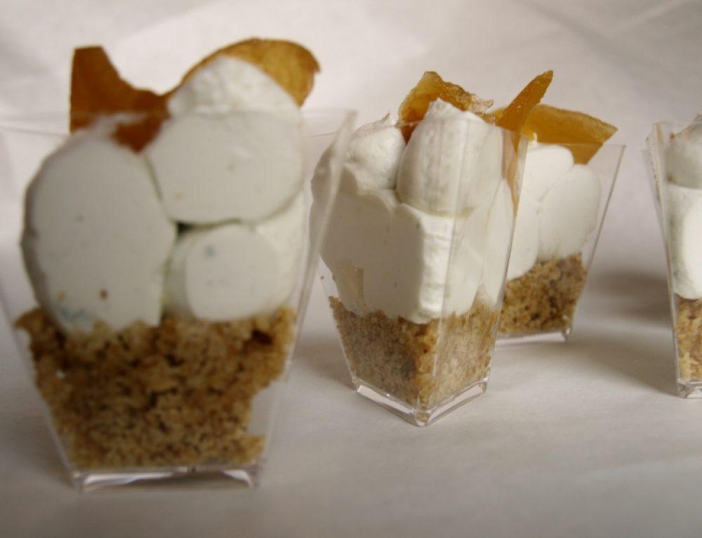 Bicchierini di Roquefort e Mostarda di Mele