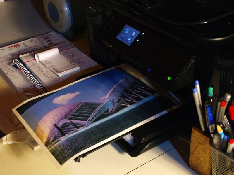 foto stampata su carta da trasferimento termico