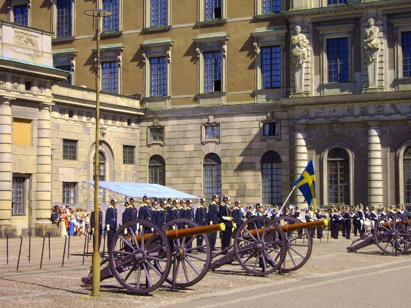 cambio della guardia palazzo reale stoccolma