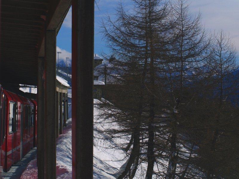 Trenino del Bernina arrivo ad Alp Grum