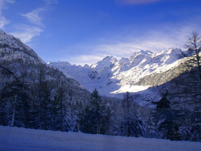 Trenino del Bernina ghiacciaio Morteratsch