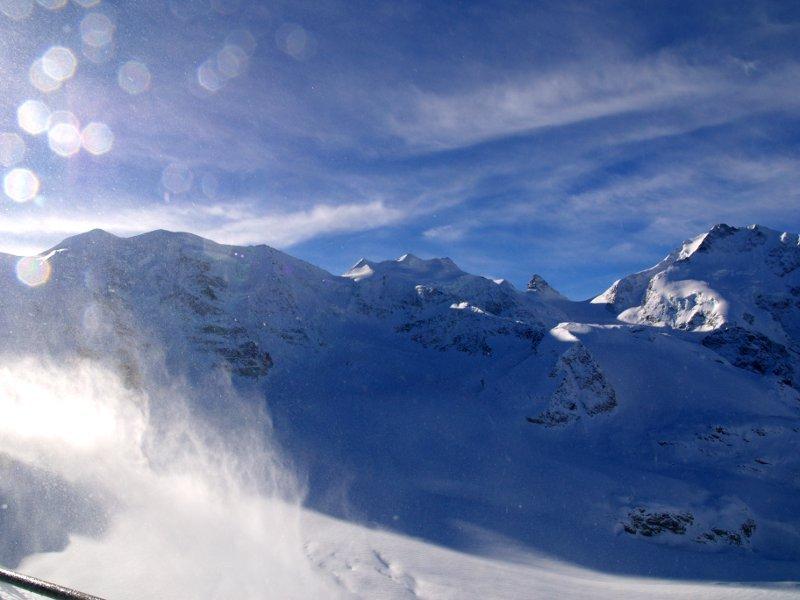 Trenino del Bernina piz Palù e bellavista dal Diavolezza