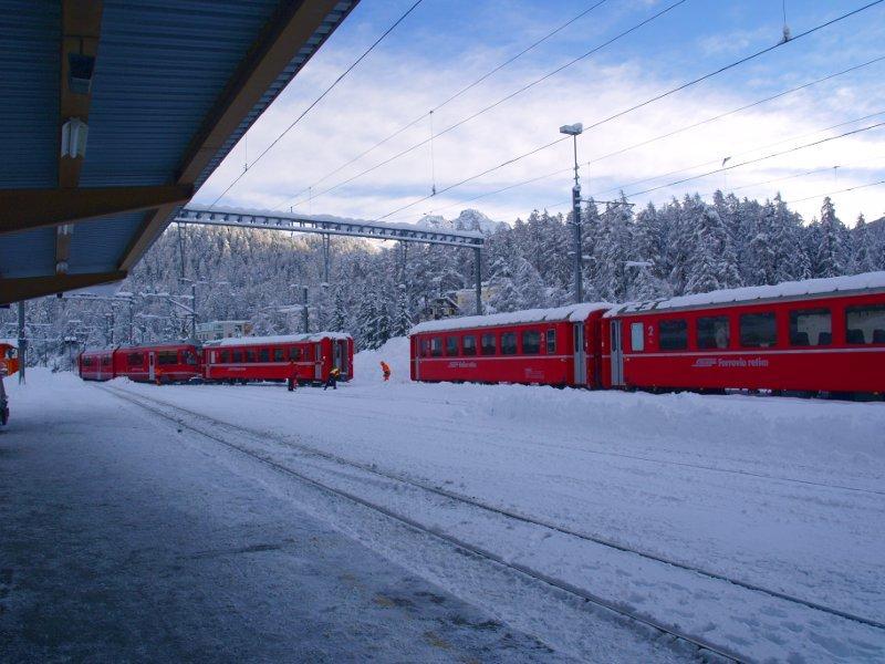 Trenino del Bernina Stazione di st. moritz
