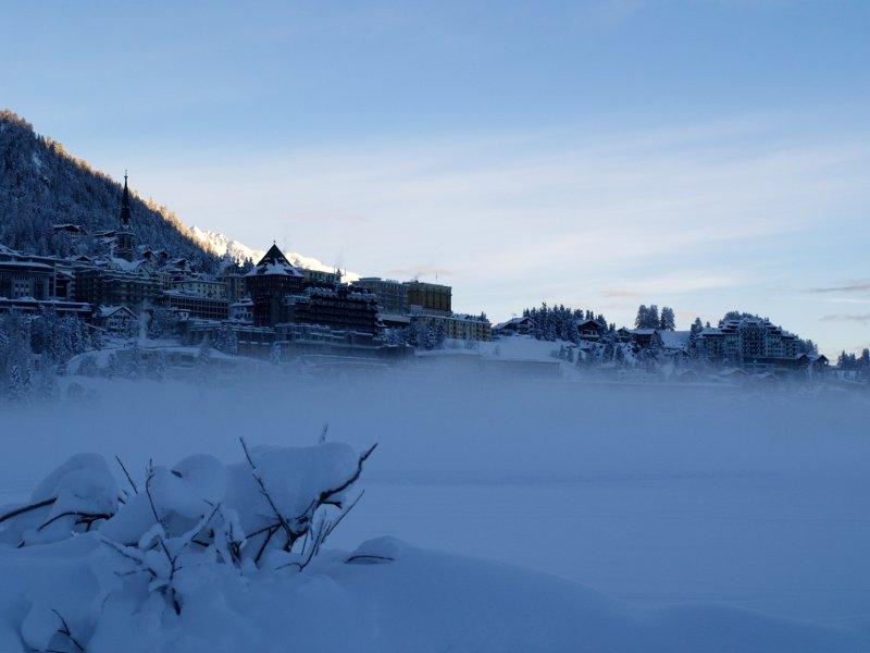 St. Moritz nebbia