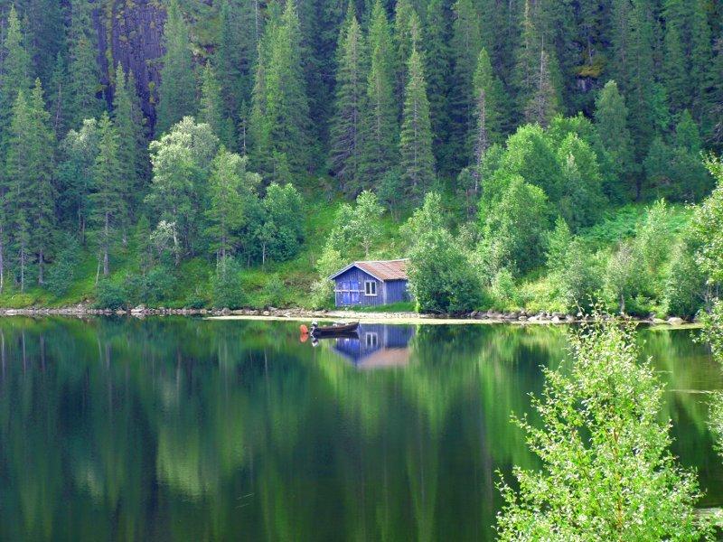 norvegia, sacro, lago