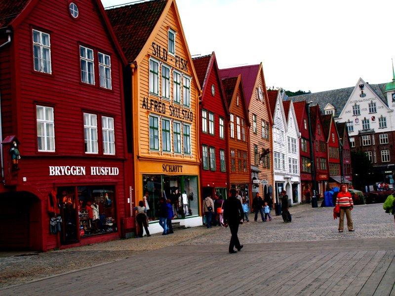 Bergen facciate colorate