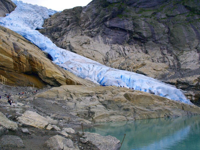 Briksdalsbreen lingua di ghiaccio