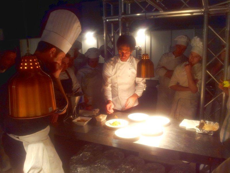 cena di gala primo piatto di Oldani