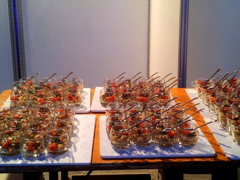 buffet cena bicchierini
