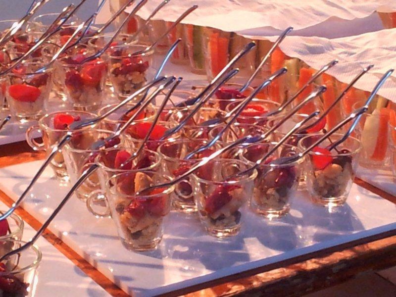 buffet cena bicchierini e cruditè