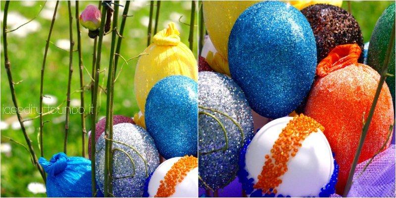collage particolari uova di pasqua