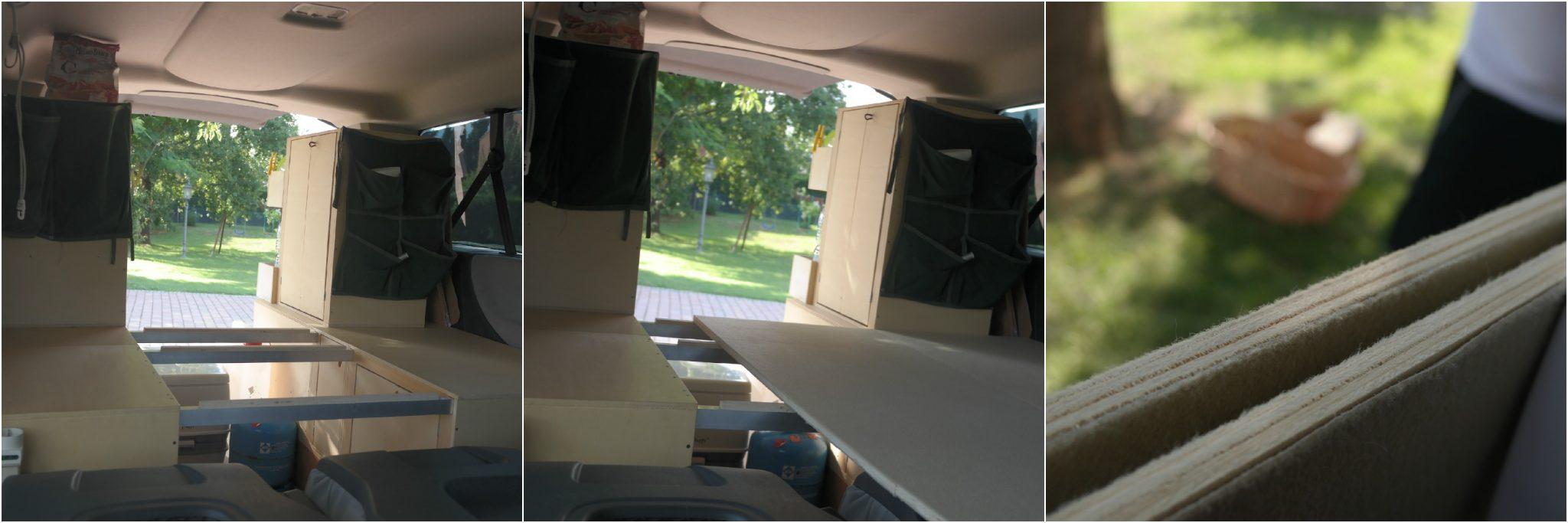 preprazione letto interno scudo