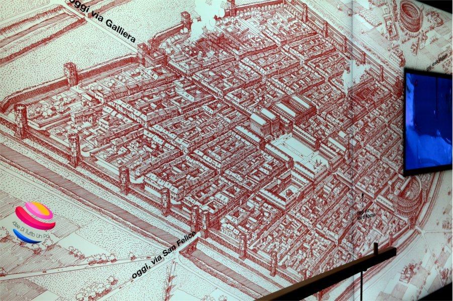 trekking urbano mappa di bologna romana