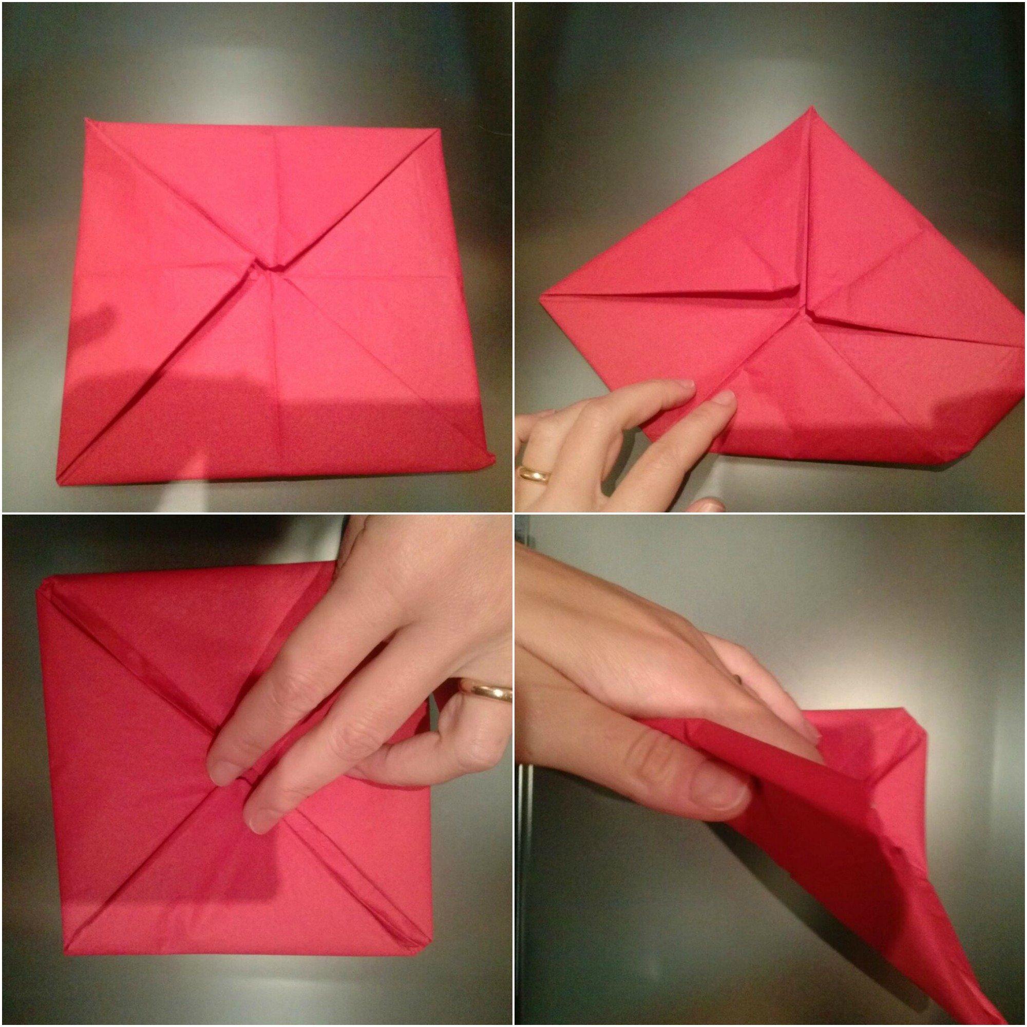 ... per piegare i tovaglioli. 10 straordinarie (ma. Origami facili  la  ninfea portacandela Idee di Tutto Un Po  221fe021752c