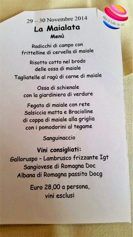 menù maialata Cà Monti