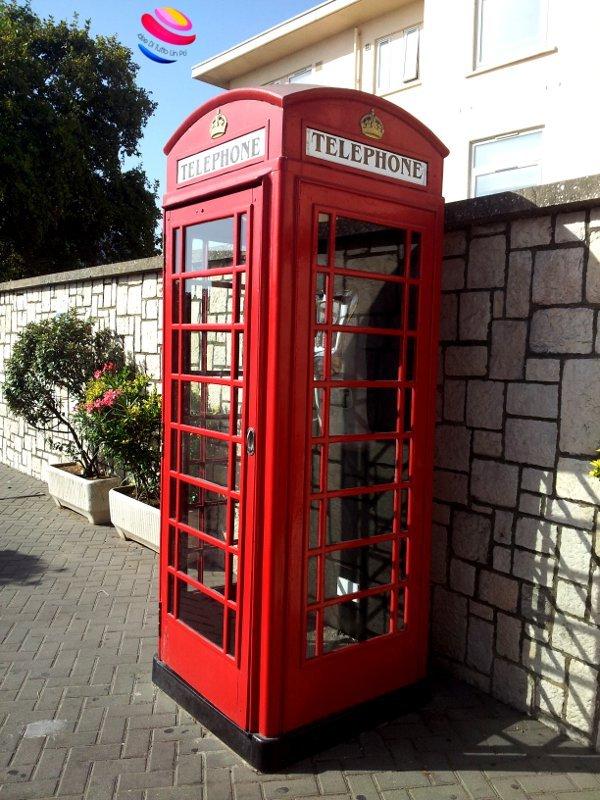 Gibilterra cabina del telefono