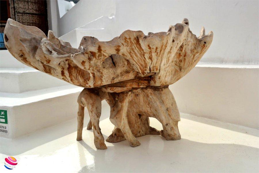 Panarea Vaso di legno
