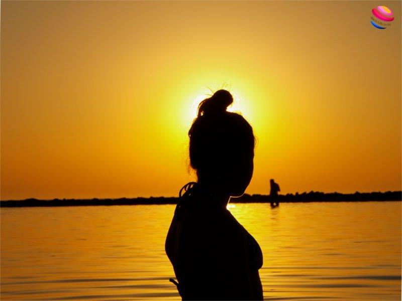 Costa della luz sagoma al tramonto