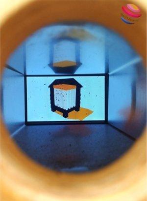 Uk filmato dentro il foro nel muro