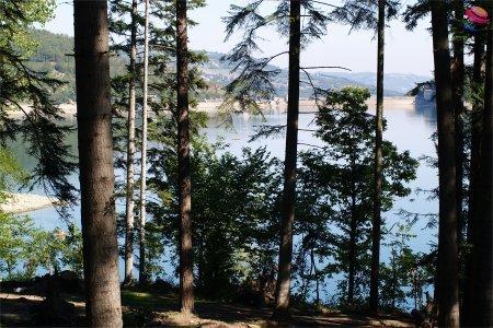 Lago di Suviana vista dal campeggio