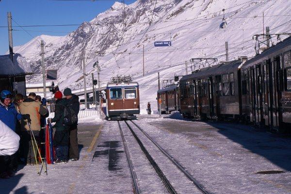 Zermatt trenino stazione di Riffelberg