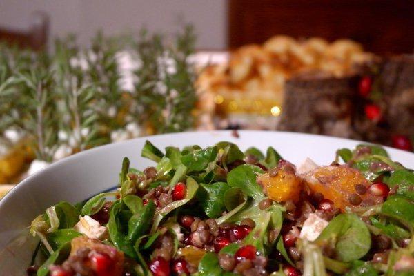 menu di capodanno insalata di lenticchie e melograno