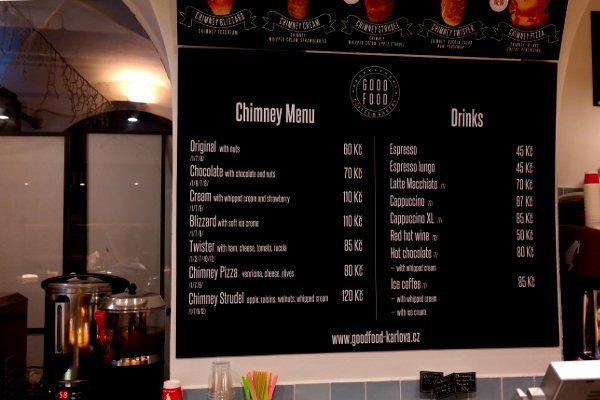Dove mangiare a Praga  Menù Chimney