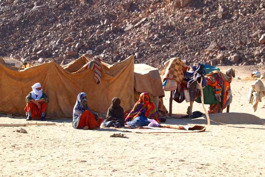 Algeria turismo campo nomadi