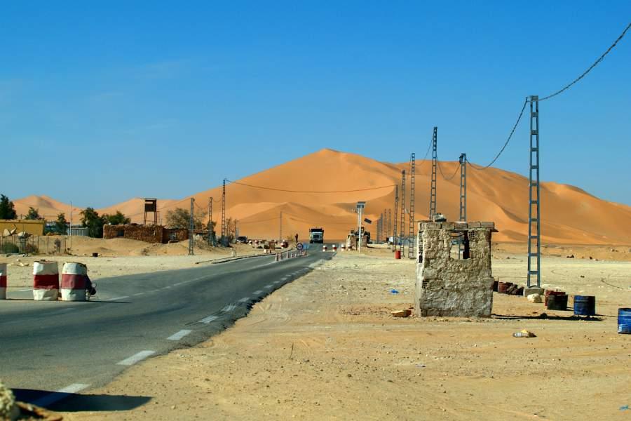 Algeria turismo posto di blocco