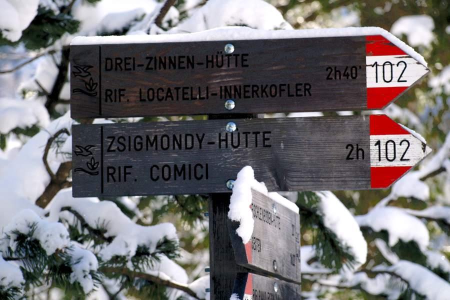 Val Fiscalina le indicazioni per famosi rifugi per escursionisti esperti