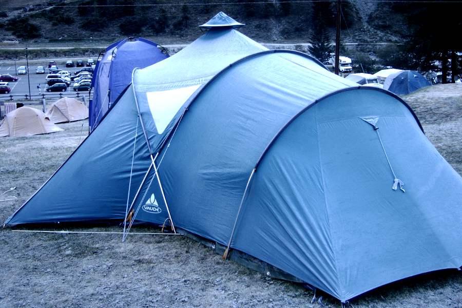 La tenda in campeggio