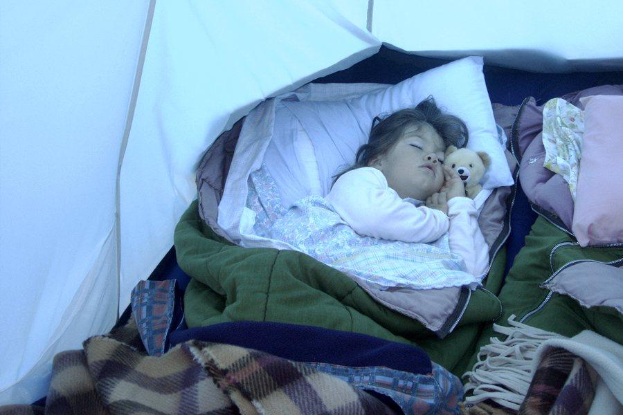 dormire in campeggio