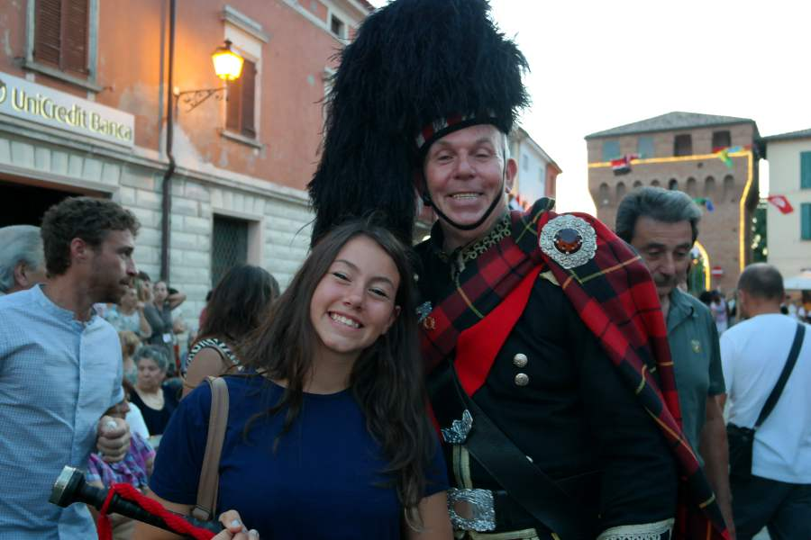 Bagnara di Romagna e il bagpipe player
