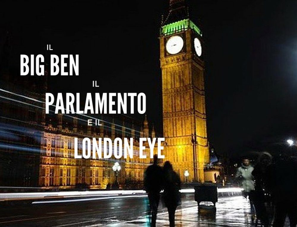 Big Ben e London Eye a Londra