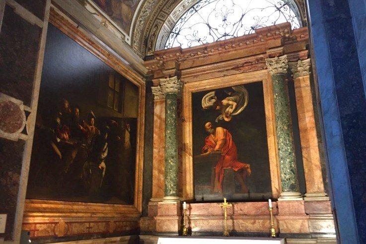 Cappella Contarelli vicino al caffè Sant'Eustacchio