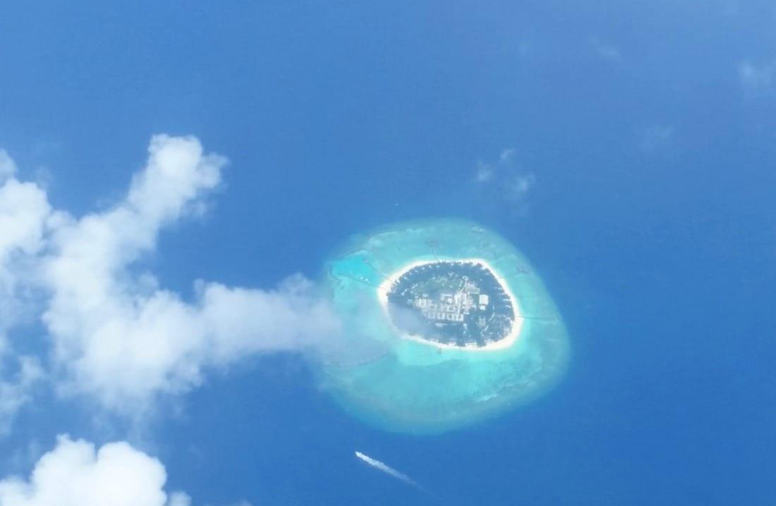 maldive atollo dall'alto