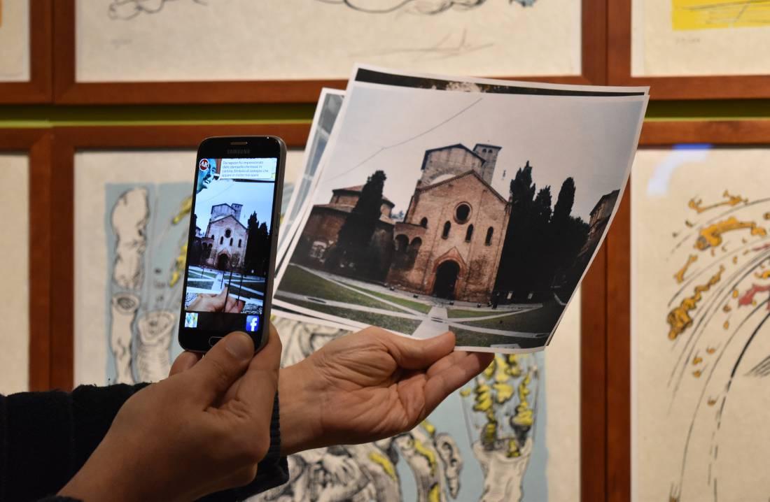 Dalì experience a Bologna. Esempio dell'App