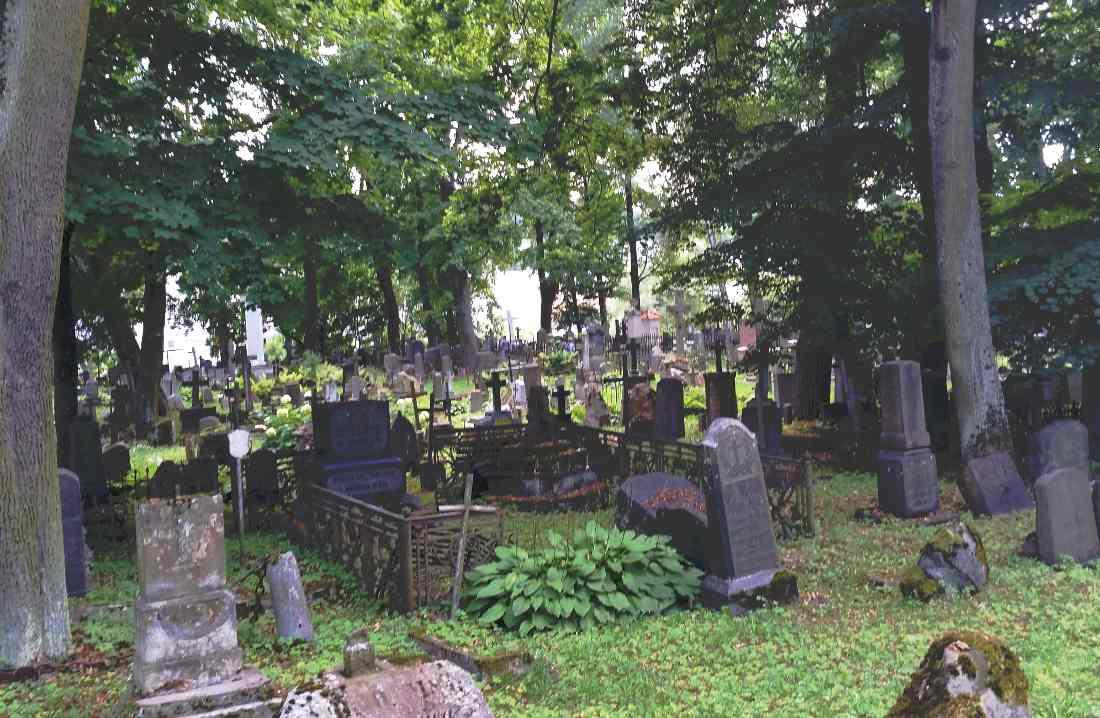 Vilnius il cimitero storico