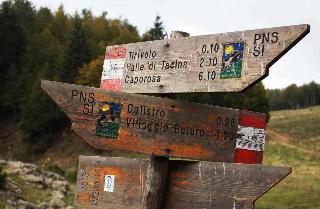 Orme nel Parco cartelli trekking