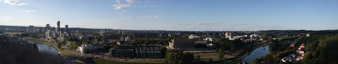 Vilnius cosa vedere: il panorama dalla collina