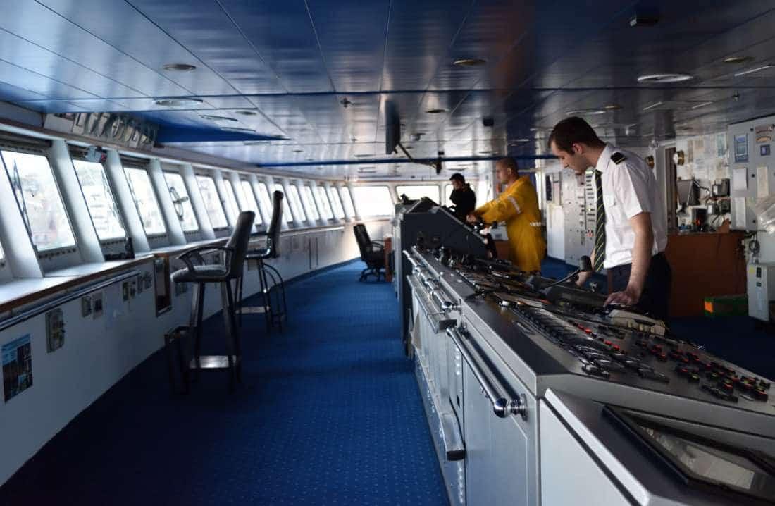 Corsica Ferries il ponte di comando
