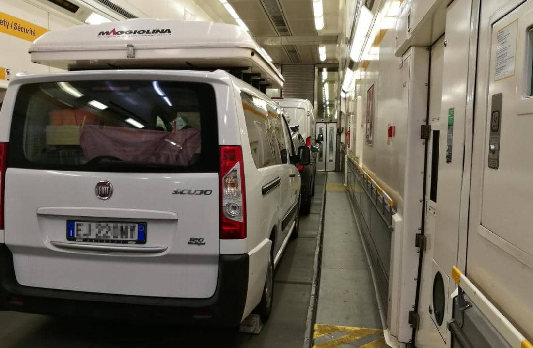Eurotunnel imbarcati
