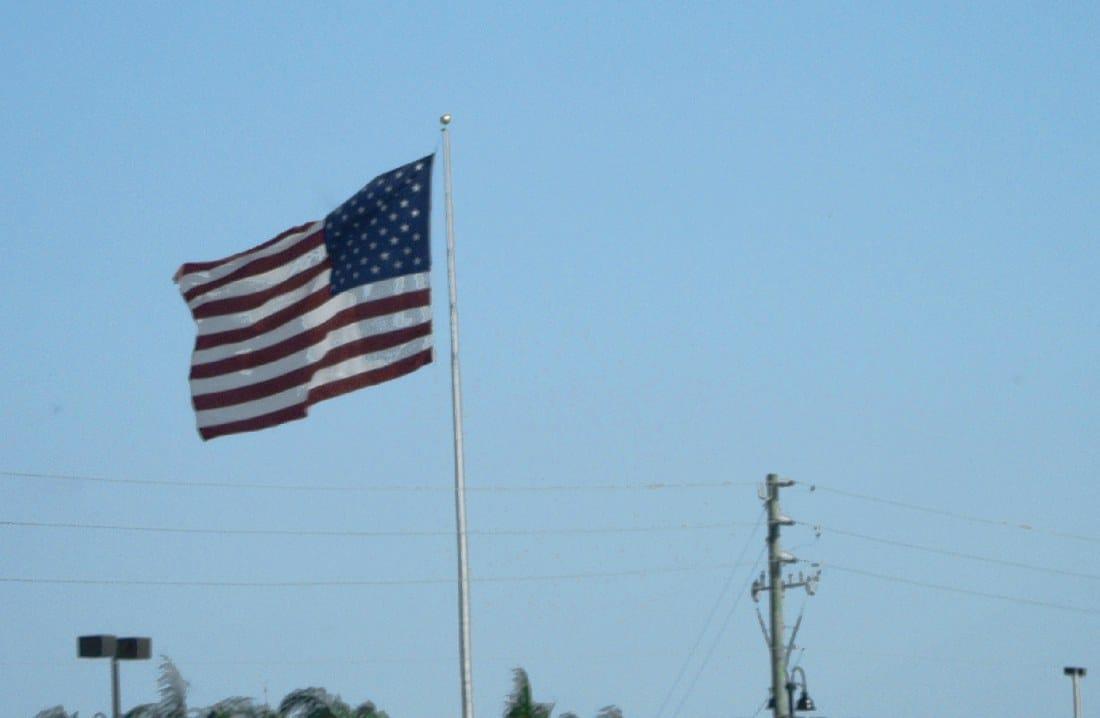 Visto Usa bandiera americana