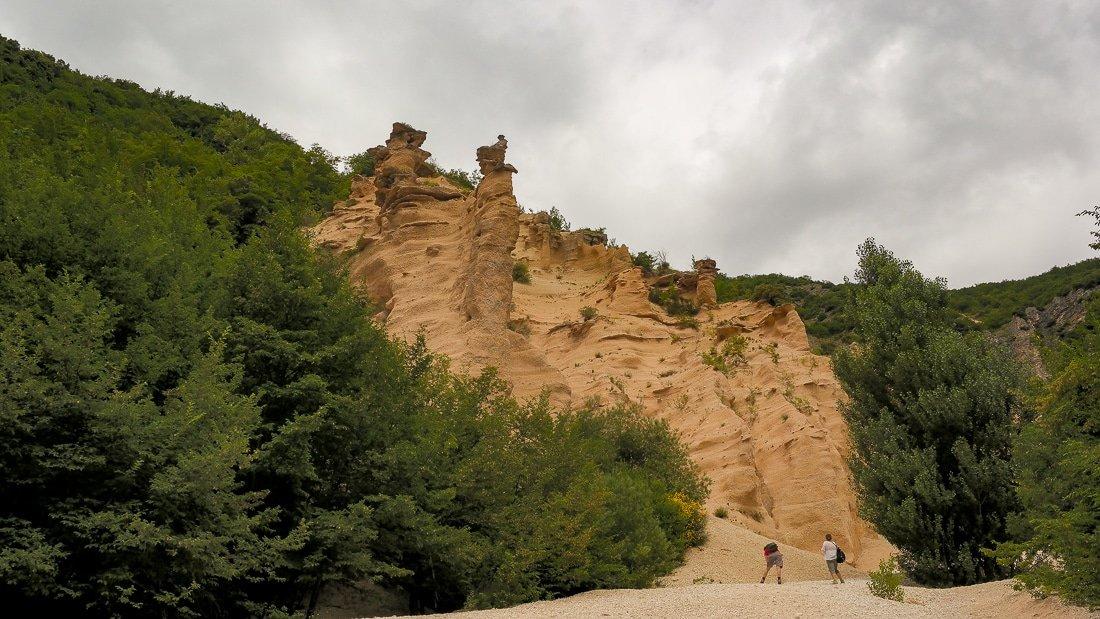 Lame rosse trekking al Lago di Fiastra
