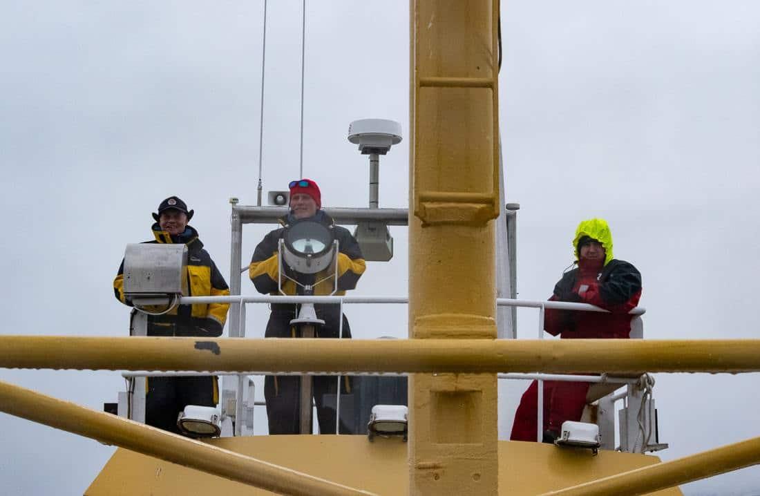 Whal watching equipaggio della barca