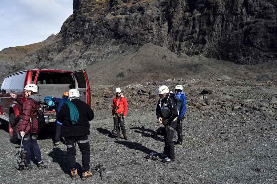 ghiacciaio islanda preparazione per il trekking
