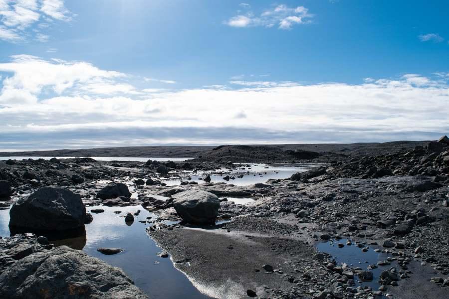 ghiacciaio islanda dove il ghiacciaio si è ritirato
